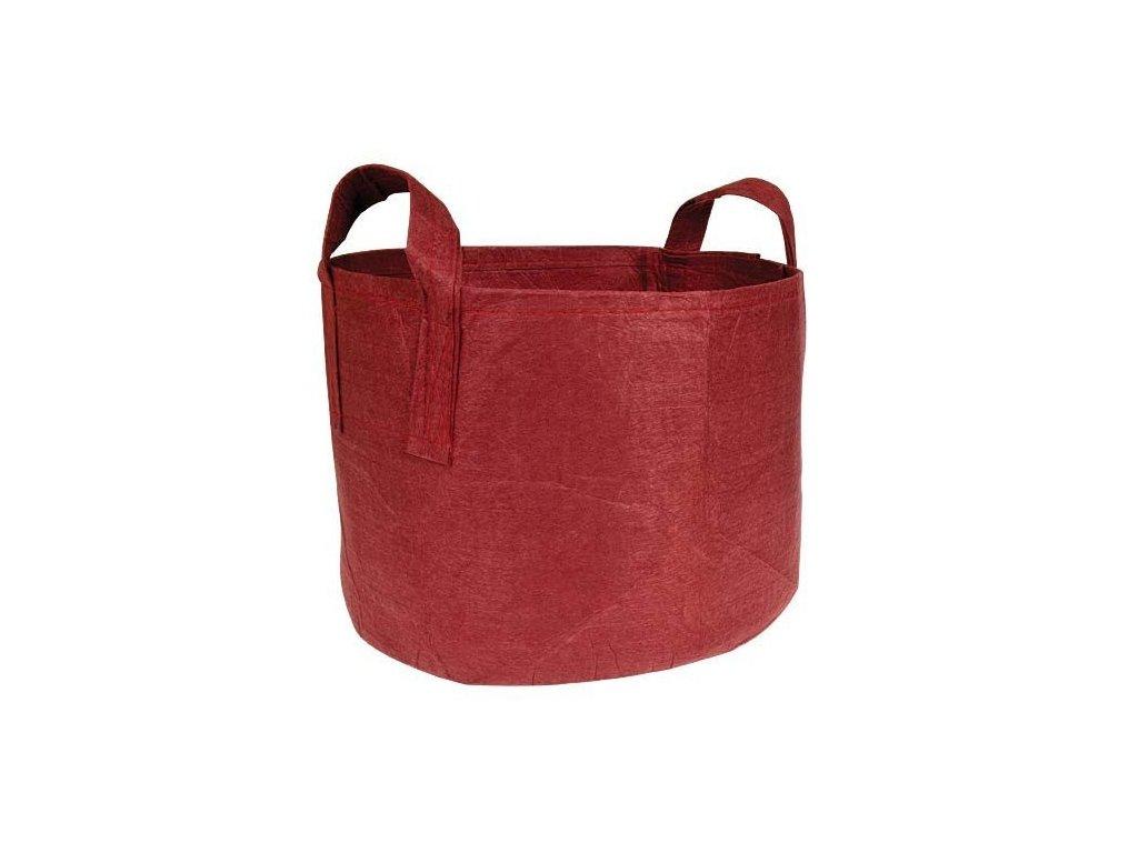63773 root pouch textilni kvetinac boxer brown 8l cerveny