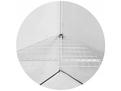 61673 homebox vista triangle shelf police 120x75x75