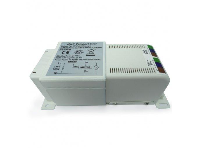 62492 magneticky predradnik horti gear compact 400w s tepelnou ochranou