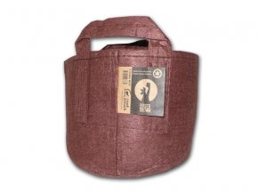 63764 root pouch textilni kvetinac boxer brown 30l