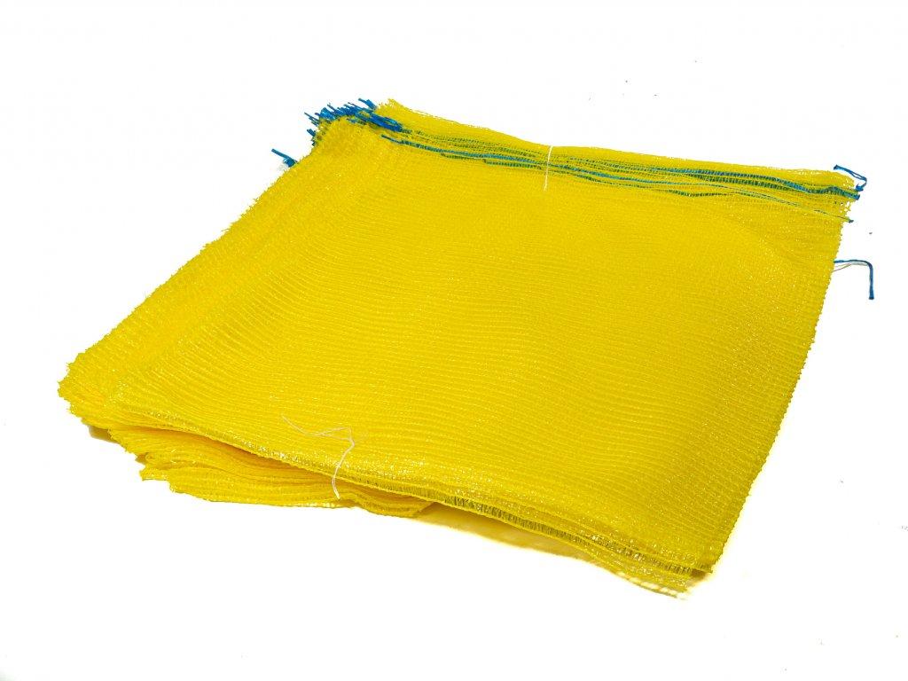 Rašlové vrece PRÉMIUM 25 kg citrónovožlté 50 x 80 cm