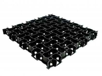 Zatrávňovacia plastová tvárnica 300 t m2 čierna