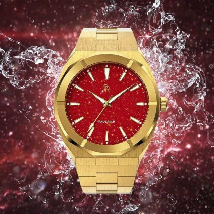 Herrengolduhr Paul Rich mit Stahlarmband Star Dust - Red Gold Limited Edition 0 - 500 pcs 45MM