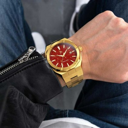 Herrengolduhr Paul Rich mit Stahlarmband Star Dust - Red Gold Automatic Limited Edition 0 - 500 pcs 45MM