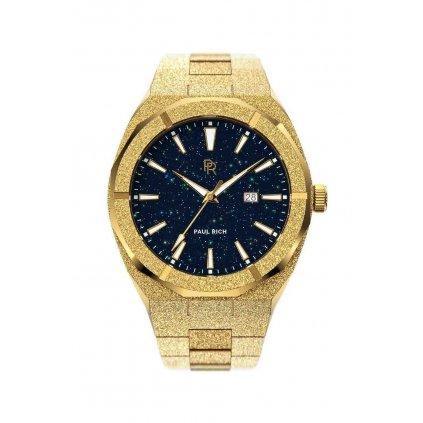 Herrengolduhr Paul Rich mit Stahlarmband Star Dust Frosted - Gold Automatic 45MM