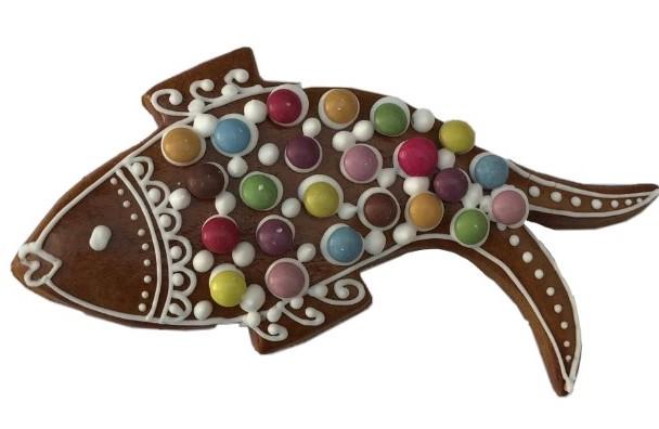 Vánoční ryba z perníčku