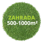Zahrada 500 - 1000 m²