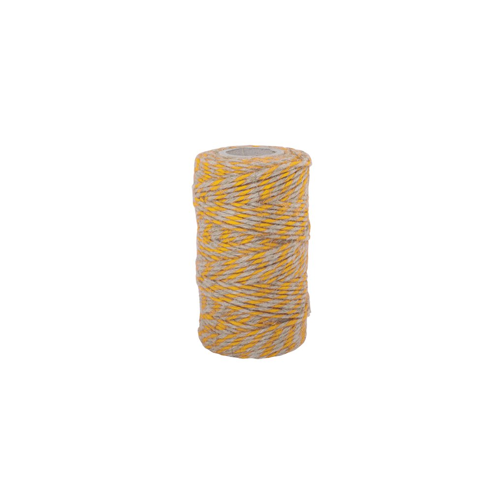 Redecker, Lněný provázek 55m - bílá/žlutá
