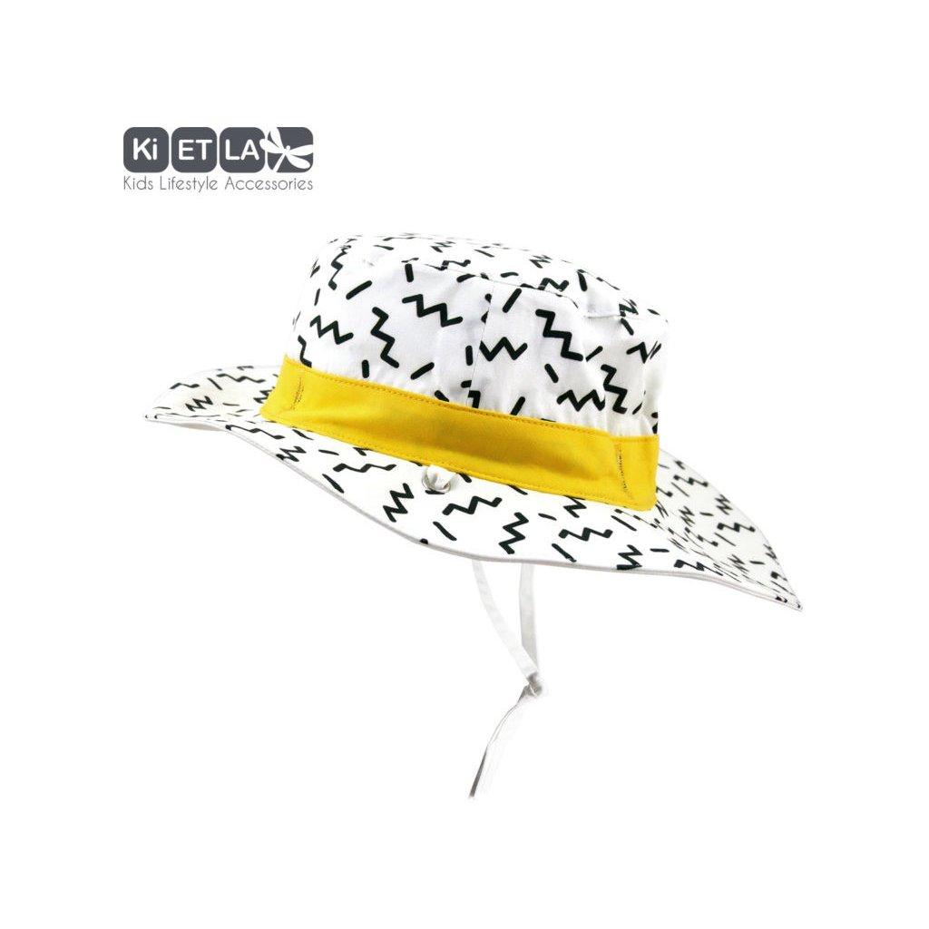 KiETLA, Oboustranný klobouček s UV ochranou 47cm - Zig Zag
