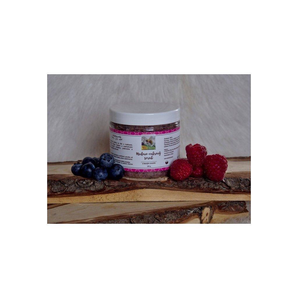 U šťastnej včely, Medovo-cukrový scrub s lesním ovocem, 300g
