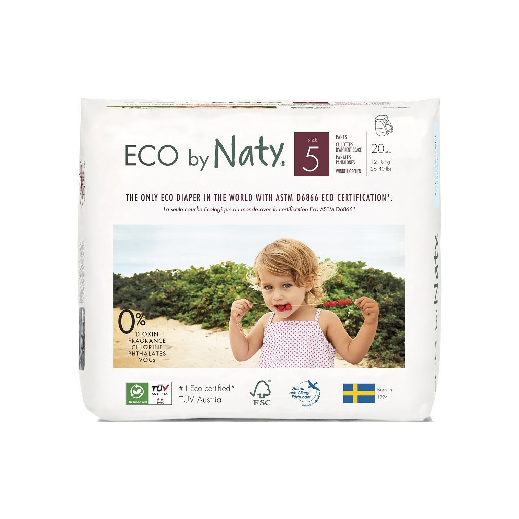Naty,Natahovací plenkové kalhotky JUNIOR 12-18 kg - 20 ks
