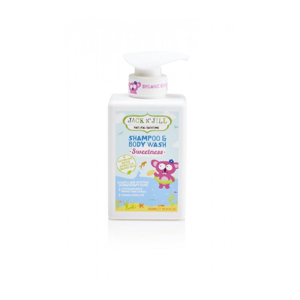 Jack N´ Jill, Sprchový gel a šampón - SWEETNESS, 300ml