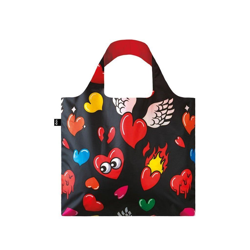 LOQI, Nákupní taška - Pop Hearts