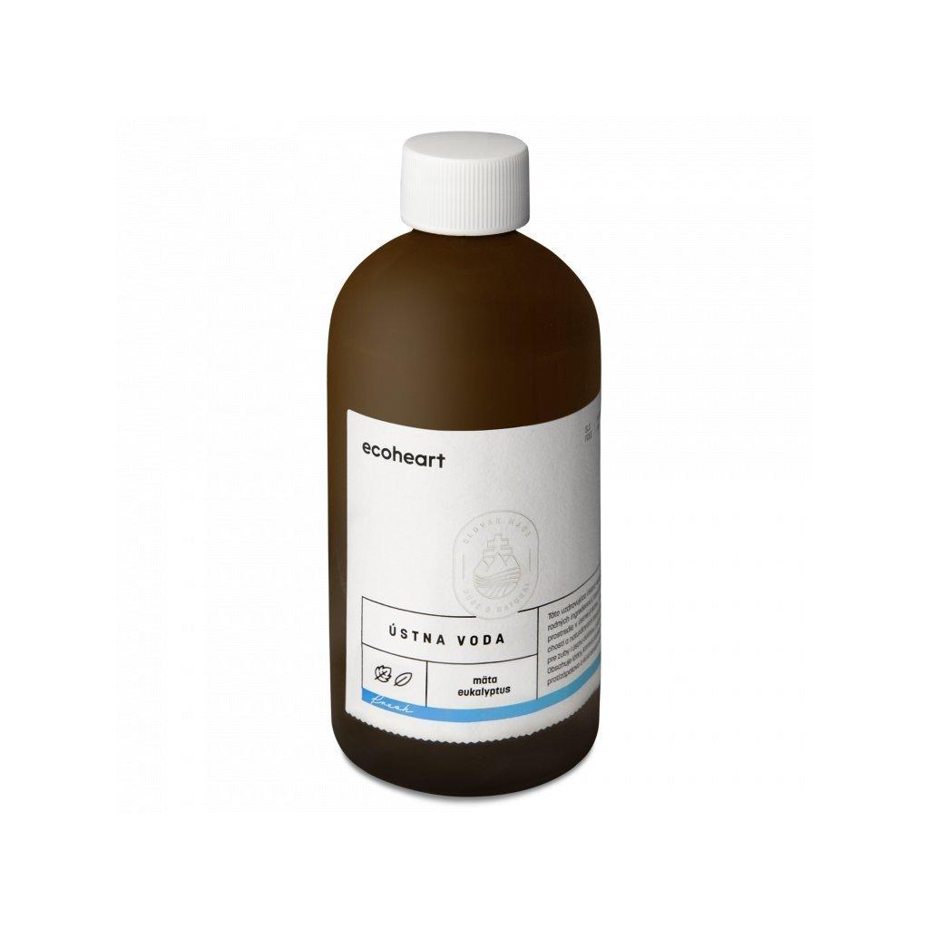 Ecoheart, Ústní voda FRESH - Máta a eukalyptus, 300ml