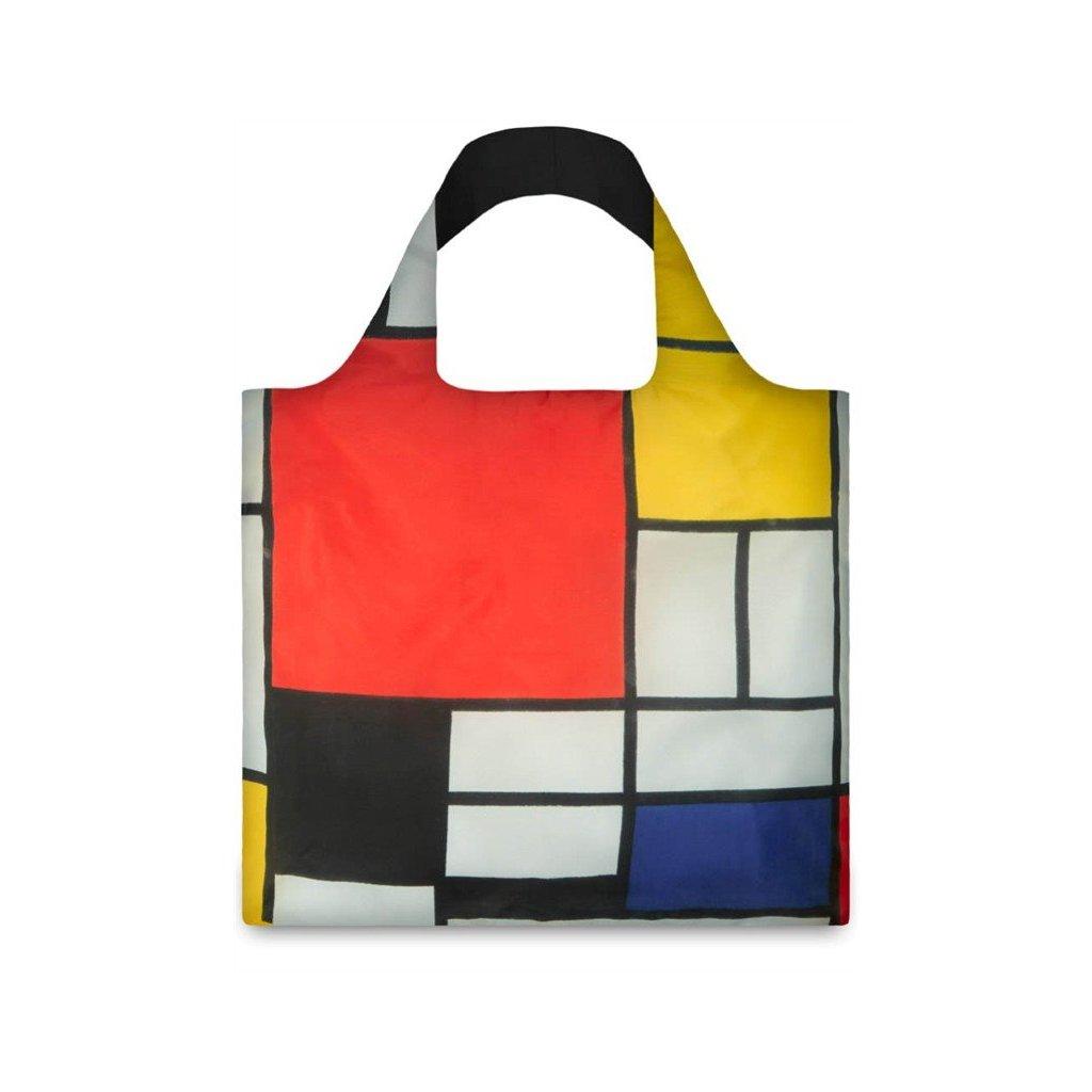 LOQI, Nákupní taška -  Composition with Red, Yellow, Blue and Black