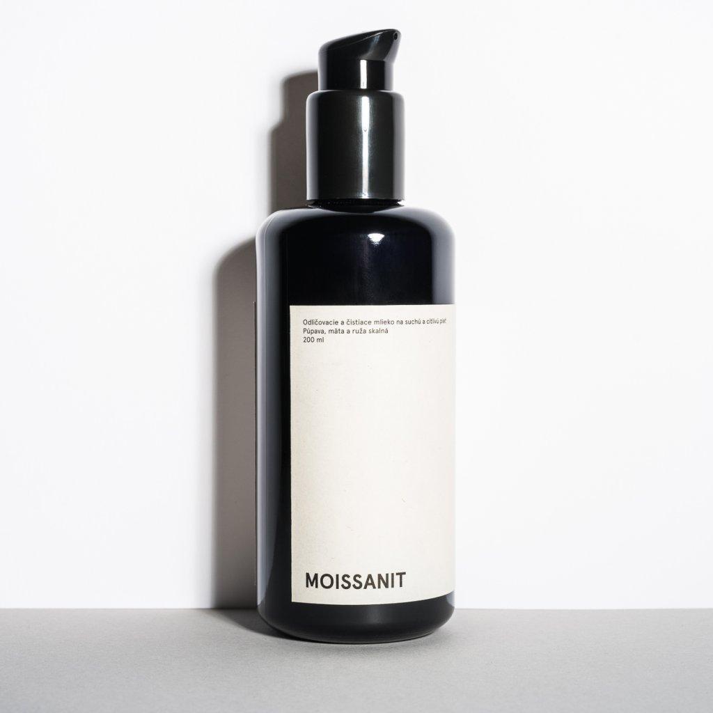 MYLO, Odličovací mléko na suchou a citlivou pleť - Moissanit, 200ml