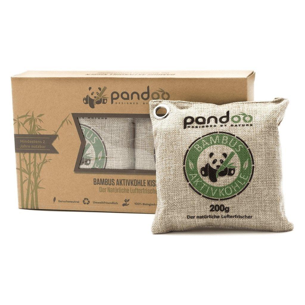 Pandoo, Přírodní bambusový čistič vzduchu s aktivním uhlím - 2x200g