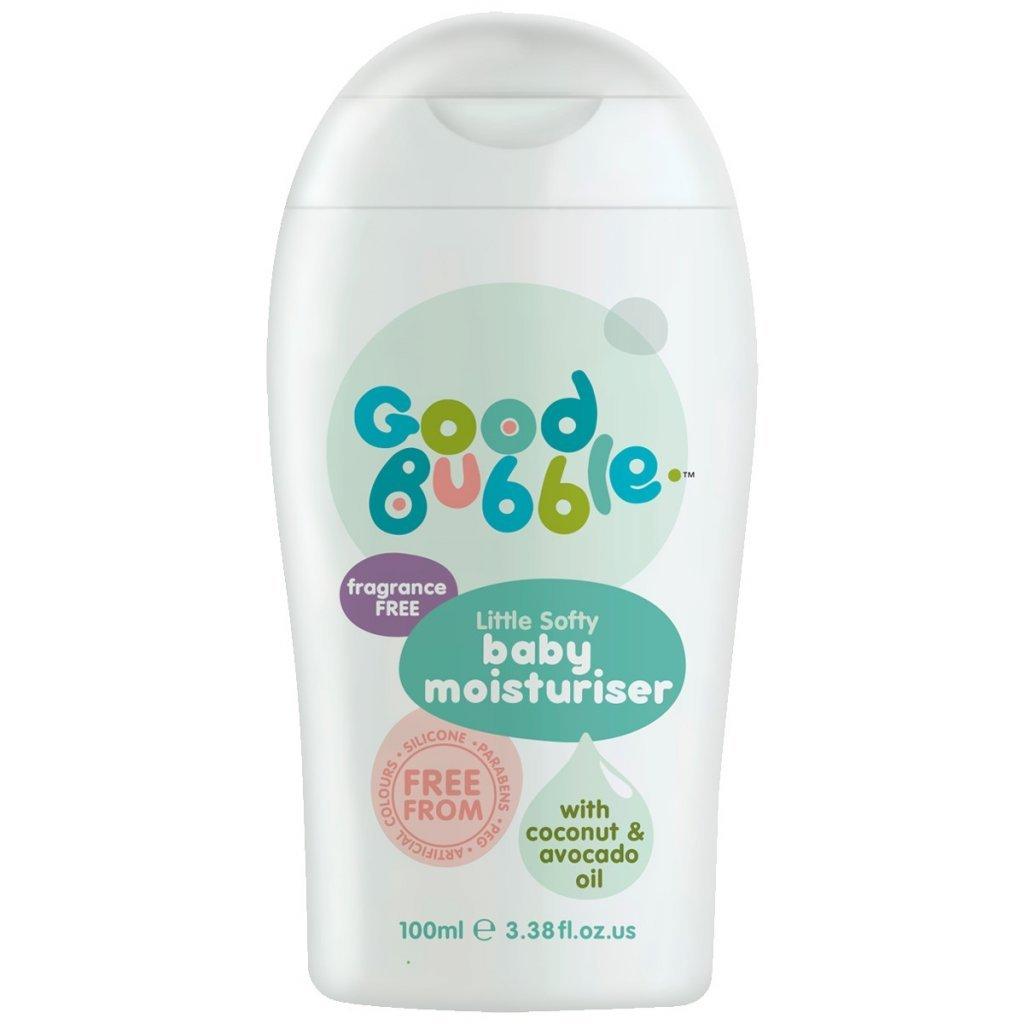 Good Bubble, Dětský hydratační krém bez vůně - 100 ml, cestovní balení