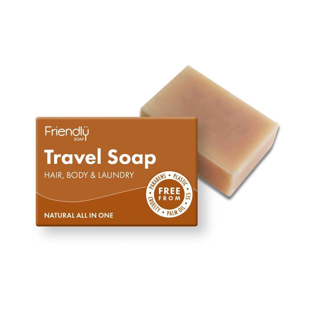 Friendly Soap, Přírodní cestovní mýdlo na tělo a vlasy 95g