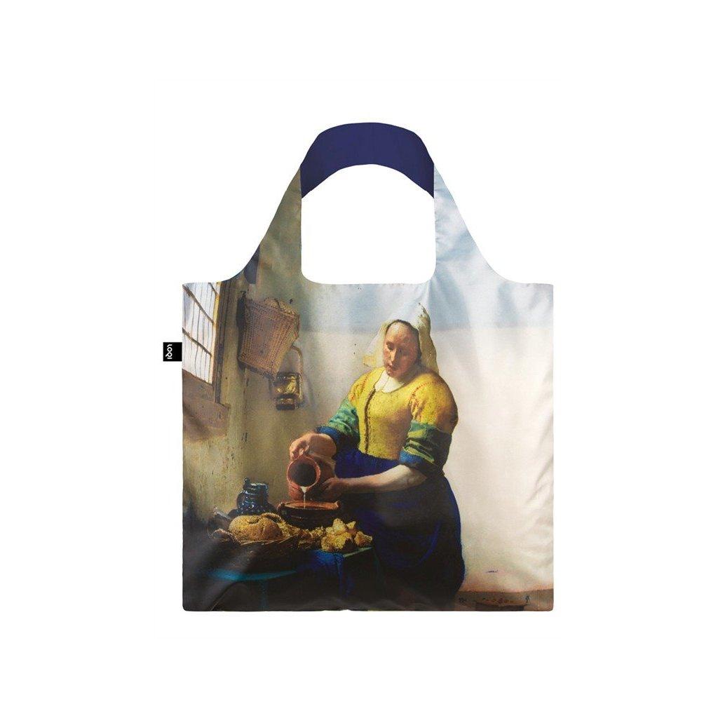 LOQI, Nákupní taška - Johannes Vermeer, The Milkmaid with Irma Boom