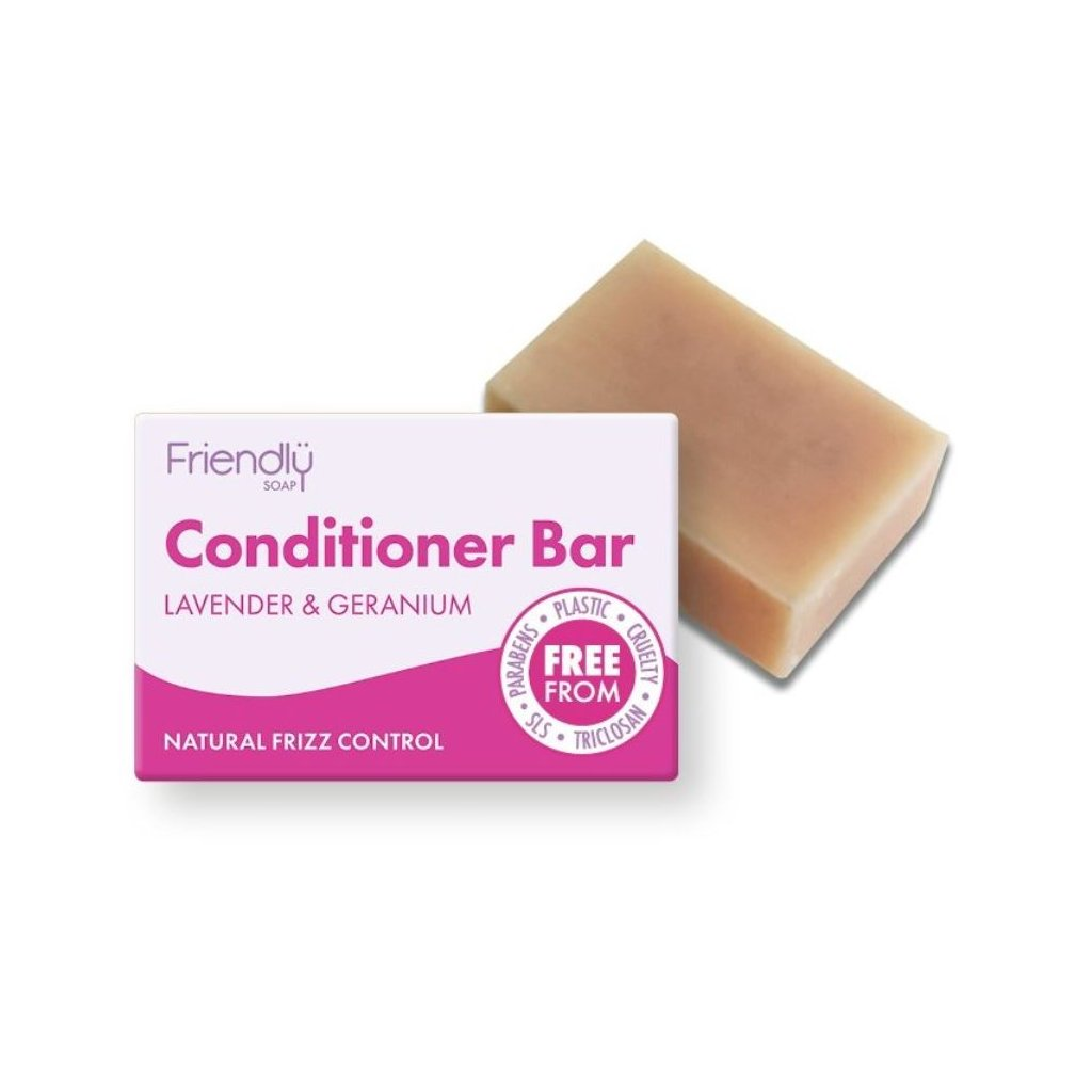 Friendly Soap, Přírodní kondicionér na vlasy levandule a pelargonie 95g
