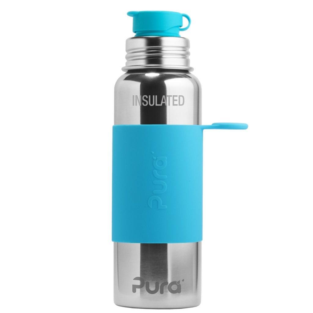 Pura, Nerezová TERMO láhev se sportovním uzávěrem - Aqua, 650ml