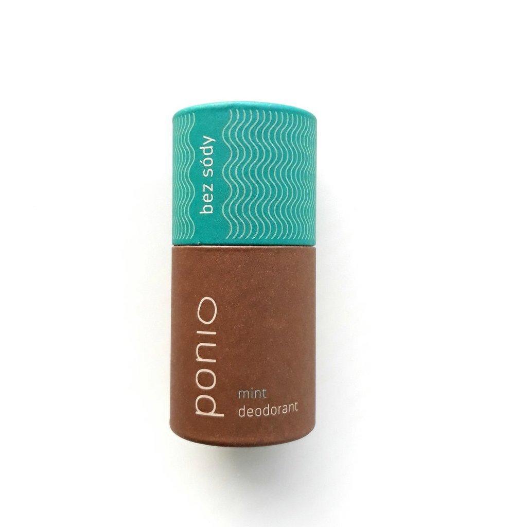 Ponio, Přírodní deodorant bez sody - Mint 60g