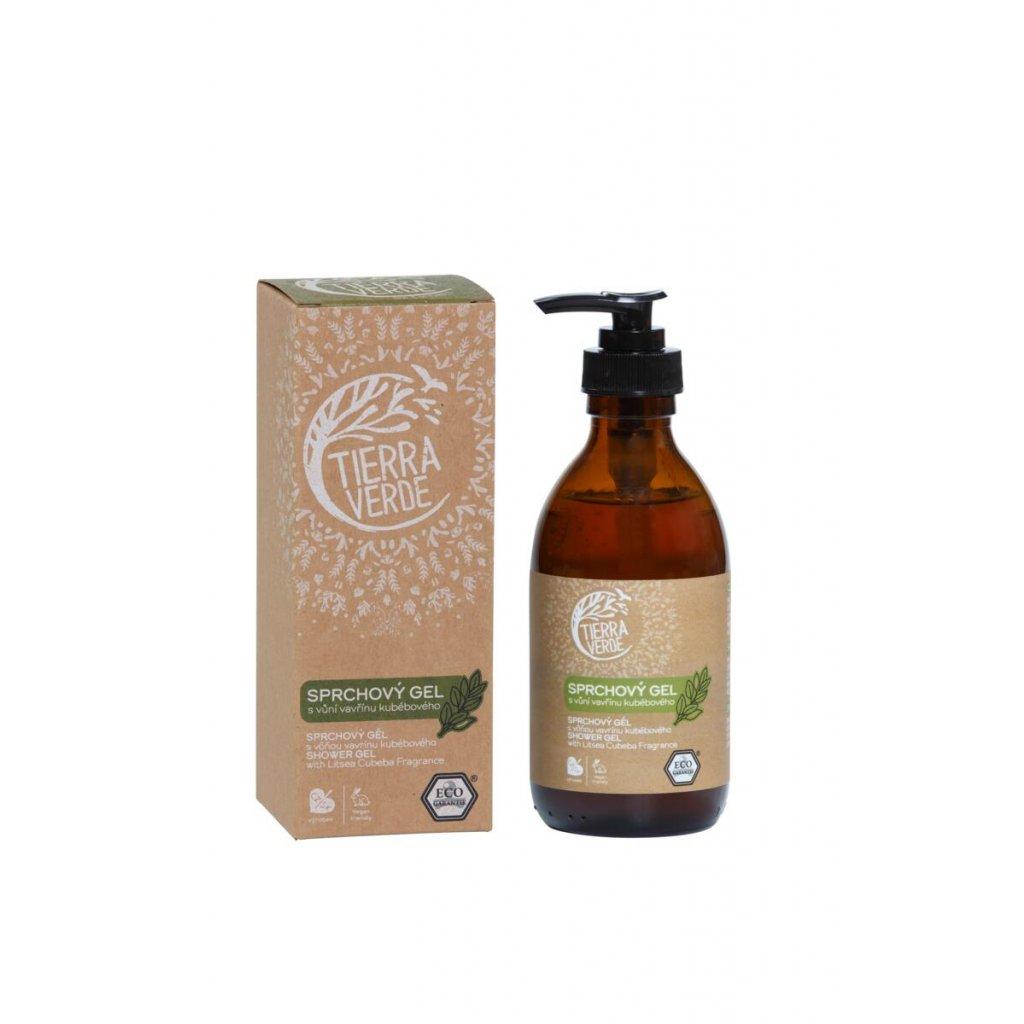 Tierra Verde, Sprchový gel s vůní vavřínu kubebového - s dávkovačem, 230 ml