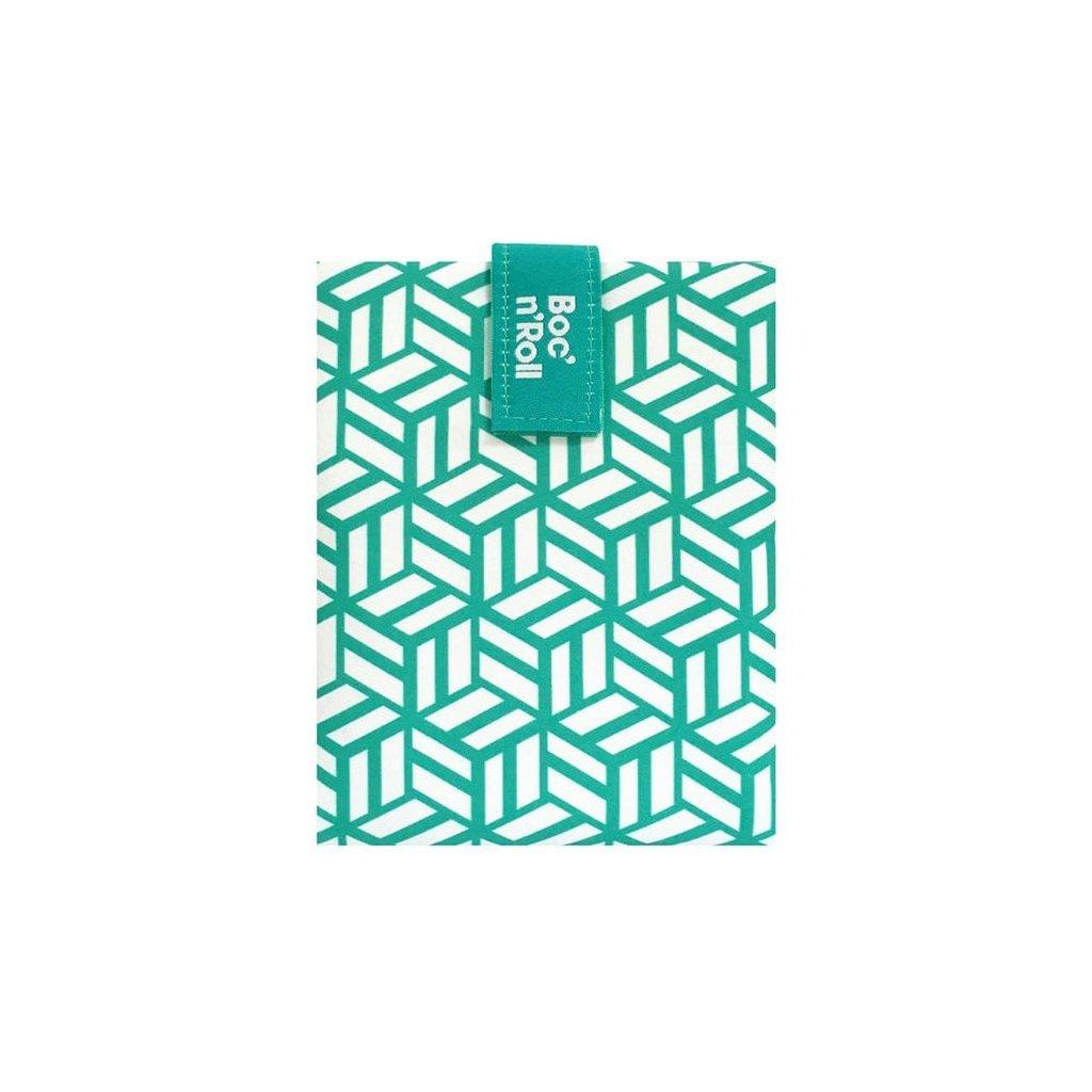 Obal na svačinu Boc´N roll Tiles green