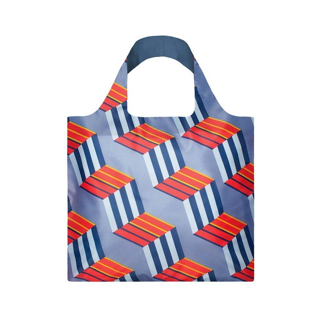 LOQI, Nákupní taška - Geometric Cubes