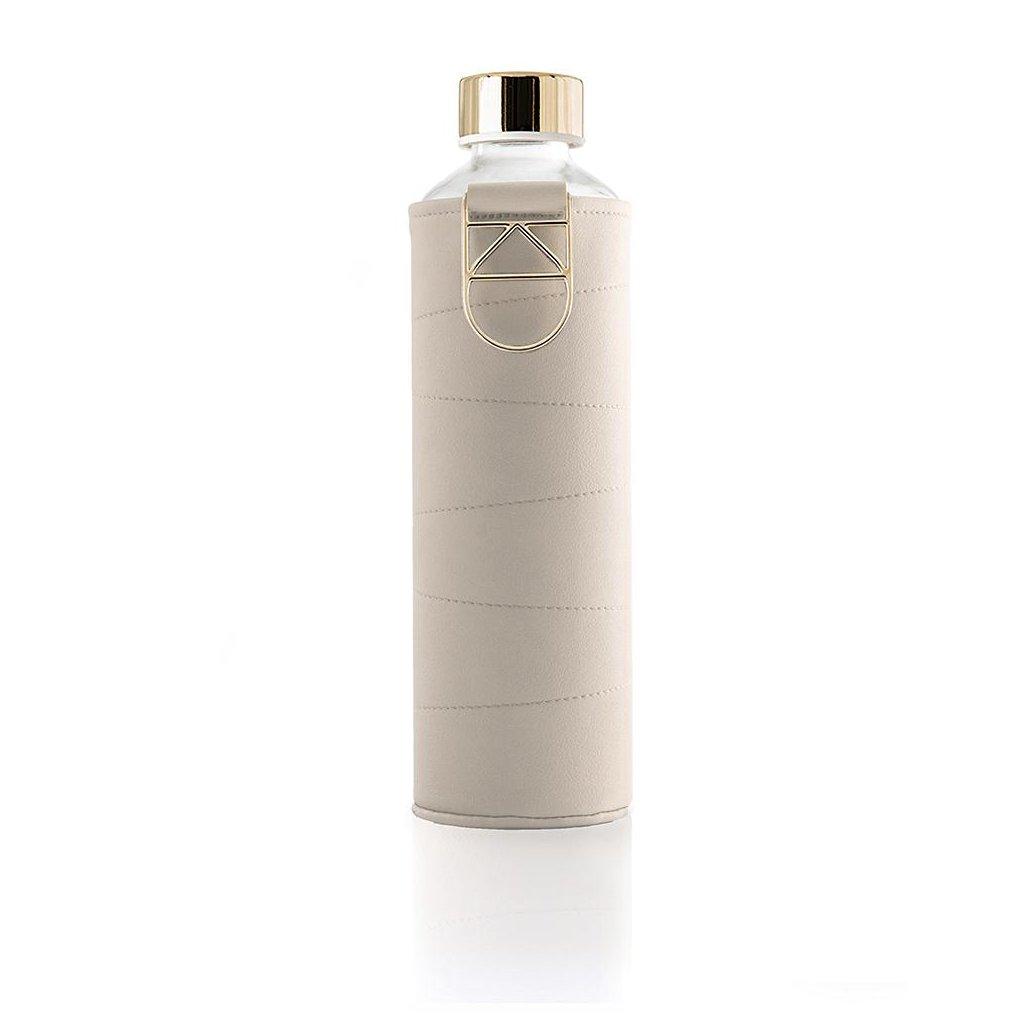 EQUA, Skleněná láhev s obalem - Mismatch Beige, 750ml