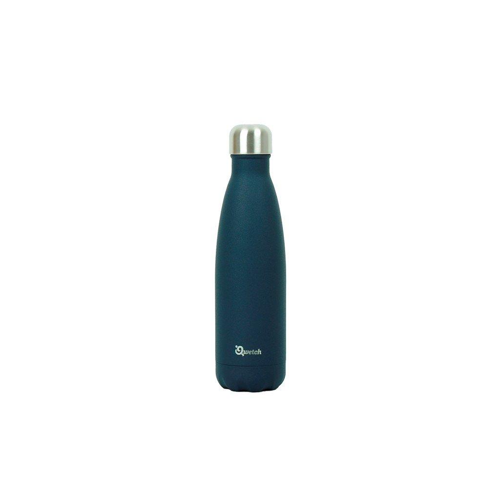 Nerezová termo láhev Qwetch - Tmavě modrá, 500 ml