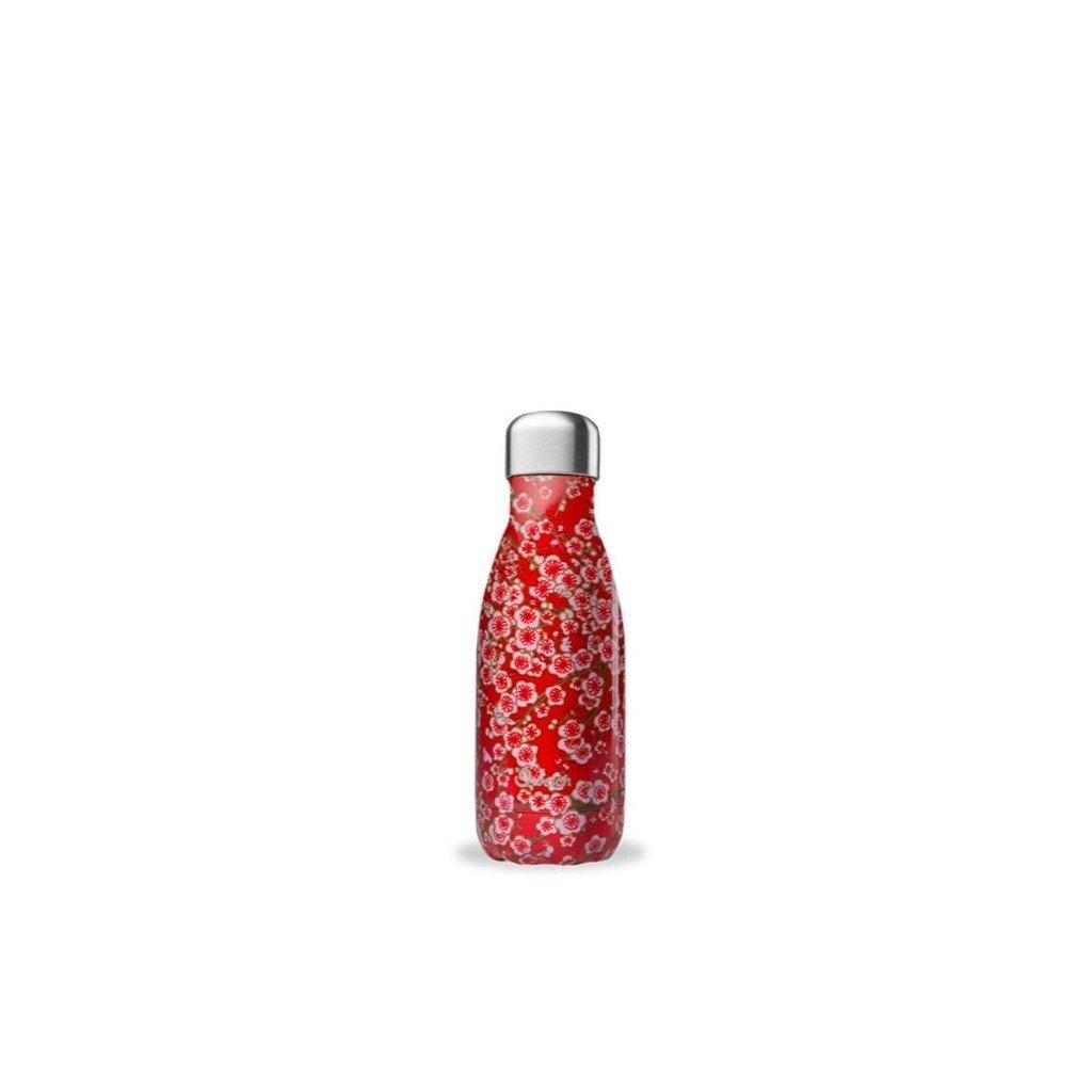 Nerezová termo láhev Qwetch - Květinová, 260ml