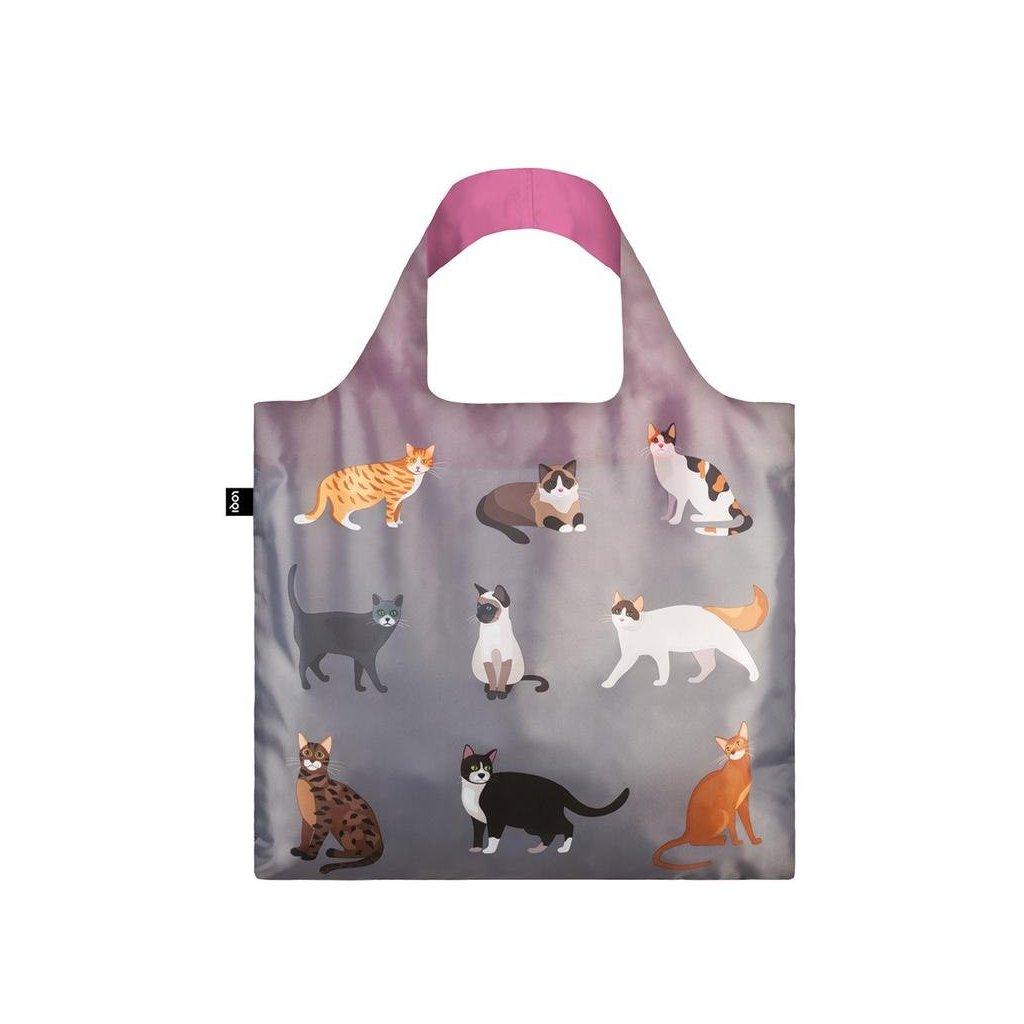 LOQI, Nákupní taška - Cats & Dogs, Meow