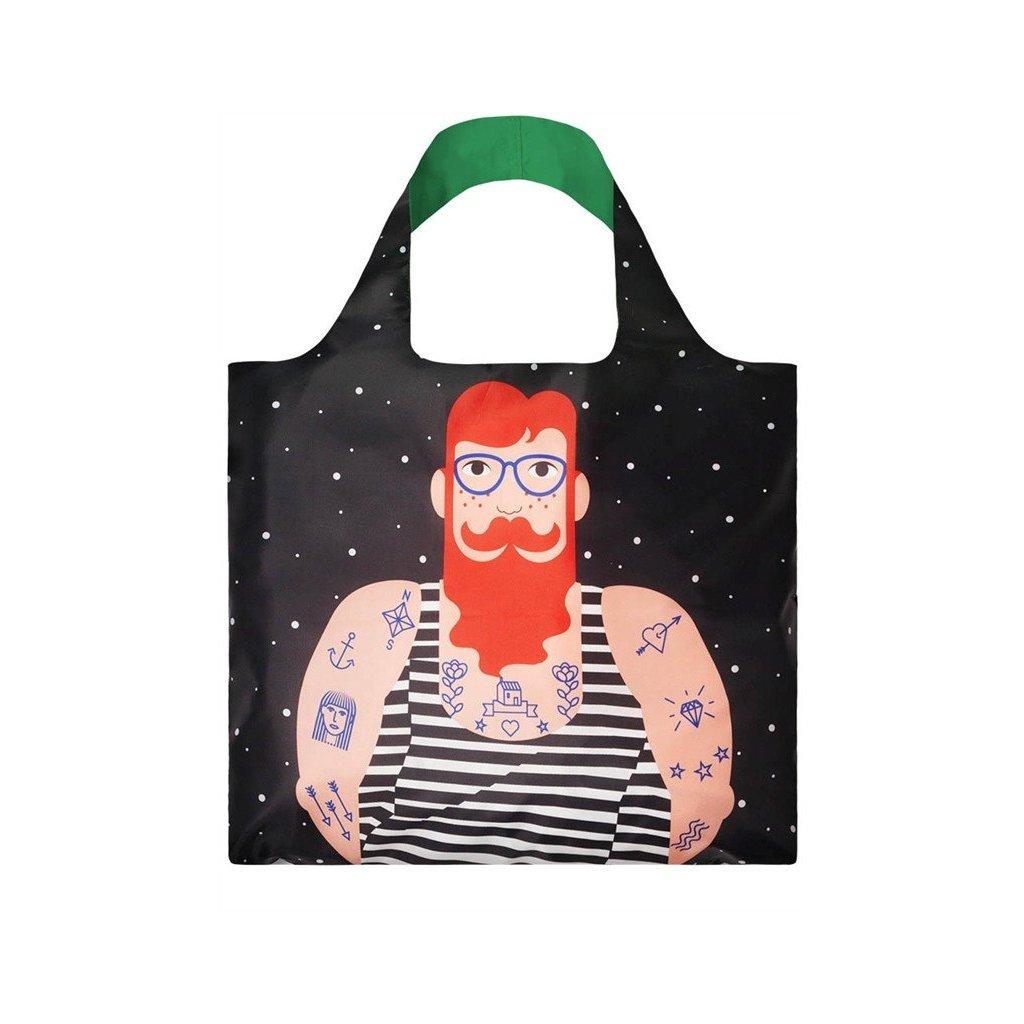LOQI, Nákupní taška - Cool People, Smoking Beard