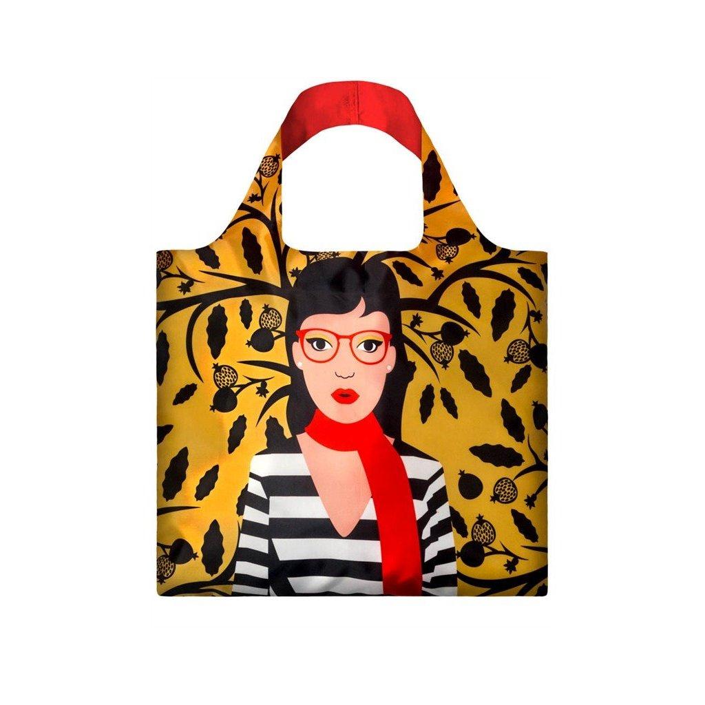 LOQI, Nákupní taška - Cool People, Snake Lady