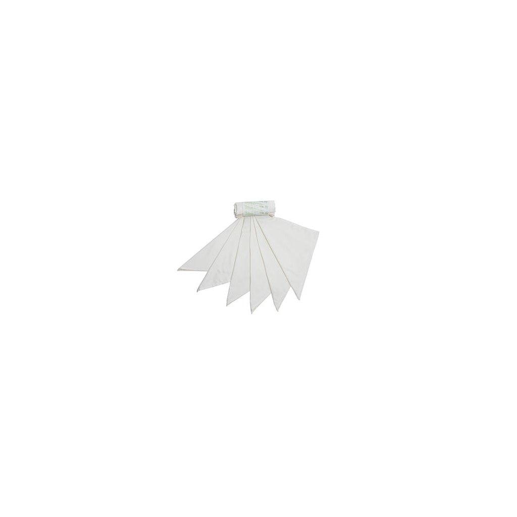 Tierra Verde, Kapesníky z biobavlněného saténu - dámske, natural, 6ks (28x28cm)