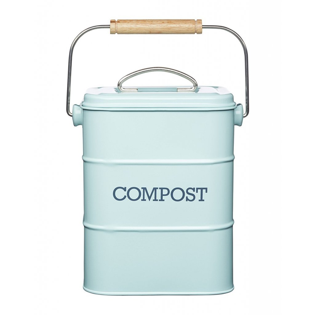Vintage nadoba na kompost (modrá)