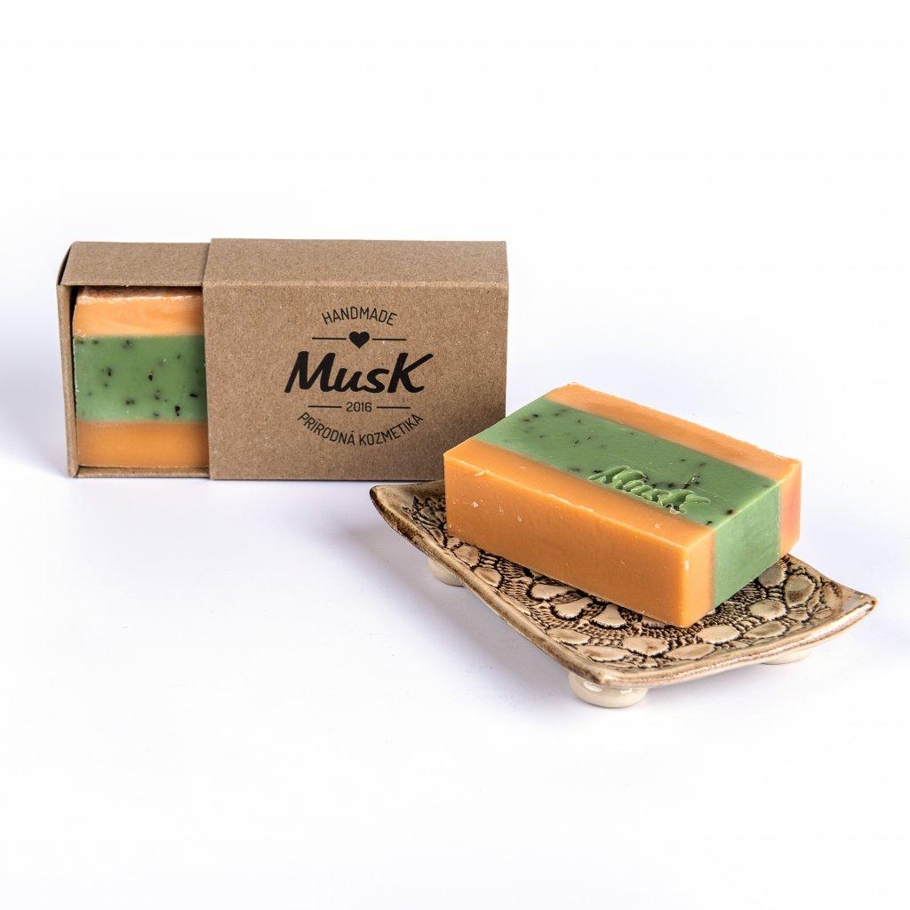 MusK, Tuhé mýdlo - Pomerančová svěžest, 100g