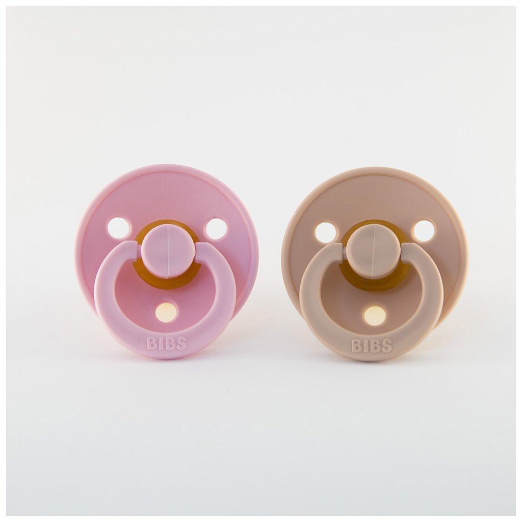 Bibs dudlíky z kaučuku velikost 1 - Baby Pink/Blush, 2KS