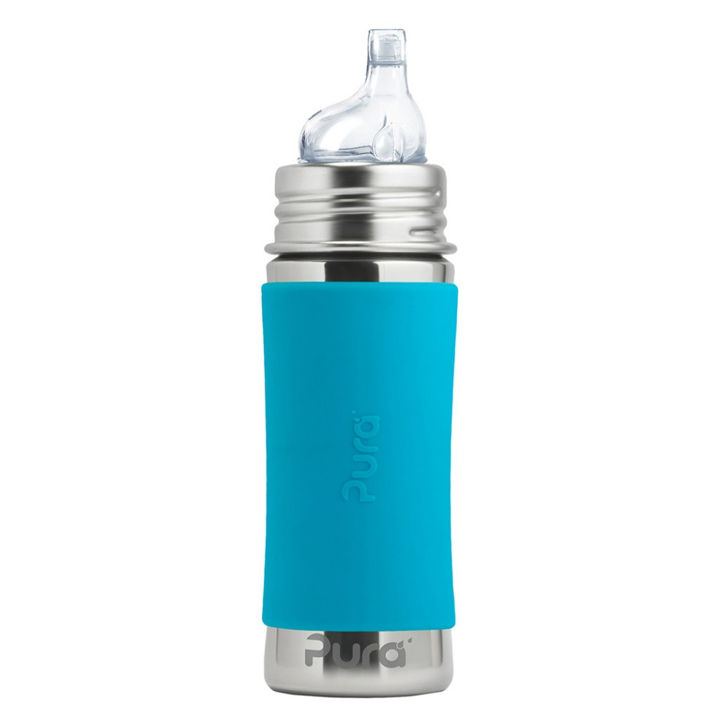 1 Pura nerezova flasa s naustkom 325ml Aqua