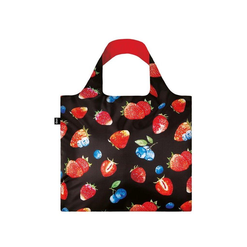 LOQI, Nákupní taška - Juicy Strawberries