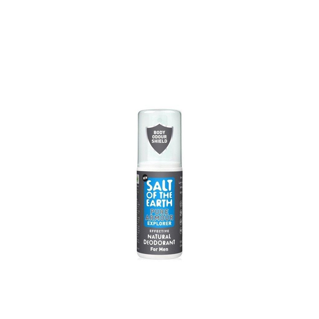 Crystal Spring, Přírodní krystalový deodorant PURE ARMOUREXPLORER - Sprej, 100ml