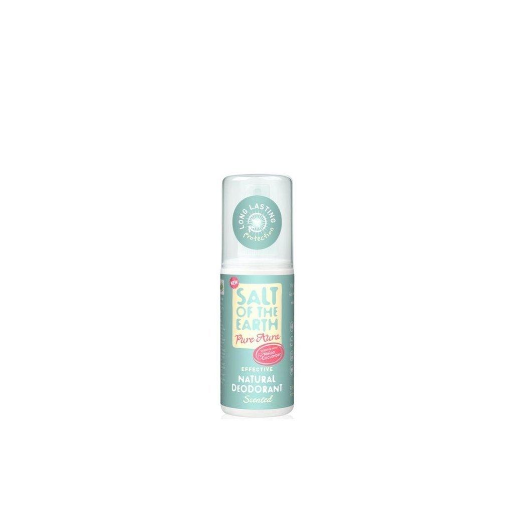 Crystal Spring, Přírodní krystalový deodorant PURE AURA - Meloun, Okurka, Sprej, 100ml
