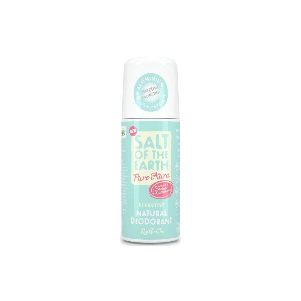 Crystal Spring, Přírodní krystalový deodorant PURE AURA, Roll on - Meloun, okurka, 75 ml