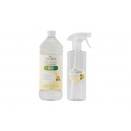 Ecoegg, Univerzální koncentrovaný antibakteriální čistič - citrus, 1l
