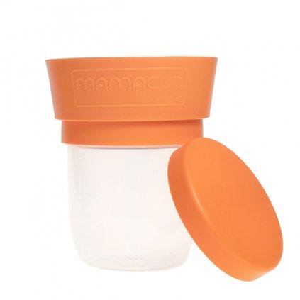 MamaCup, Nádoba na potraviny pro děti - oranžová, 400ml