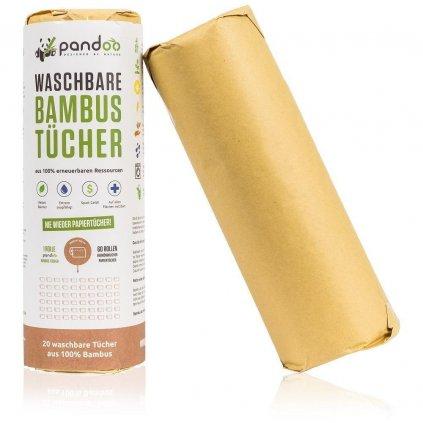 Pandoo, Opakovaně použitelné kuchyňské bambusové utěrky - 20 útržků