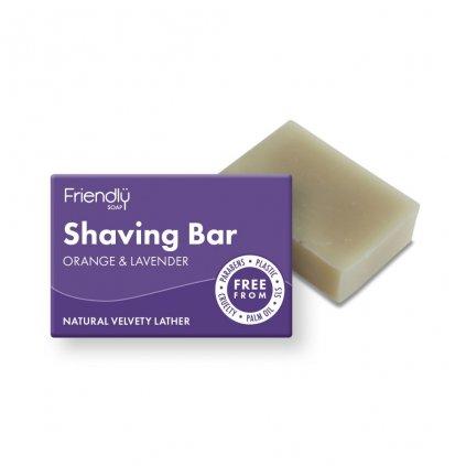 Friendly Soap, Přírodní mýdlo na holení pomeranč a levandule 95g