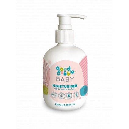 Good Bubble, Dětský hydratační krém - Bavlník bylinný a Aloe vera, 250 ml